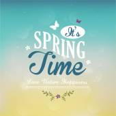 It's Spring Time text — Stock Vector