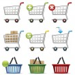Shopping Carts and Baskets — Stock Vector #76601179