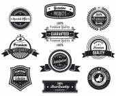 Retro premium quality badges — Stock Vector