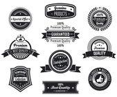 Retro premium quality badges — Stockvektor