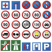 Road sign set. — Stock Vector