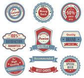Vintage labels set. — Stock Vector
