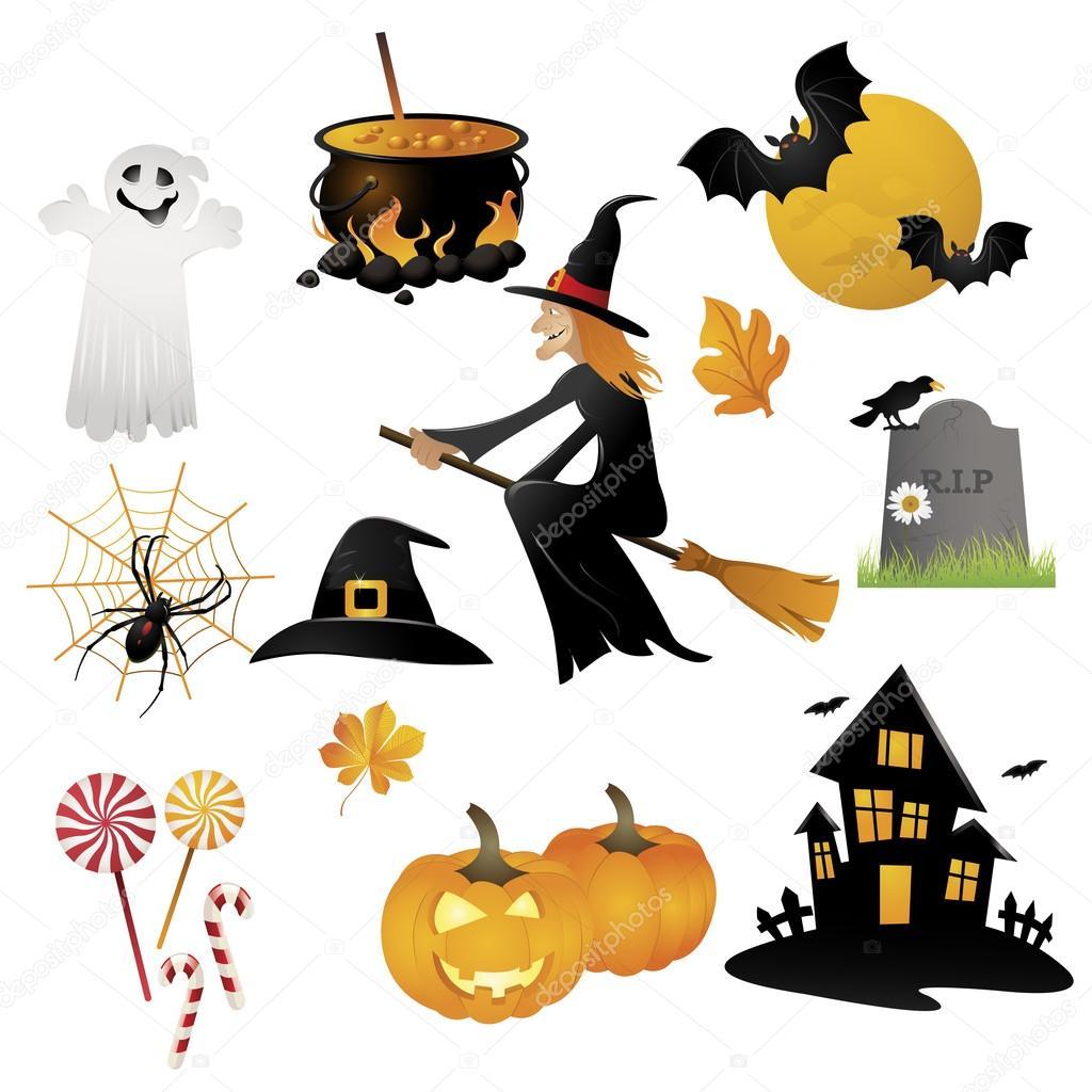 halloween set symbole stockvektor ekler 88204496. Black Bedroom Furniture Sets. Home Design Ideas