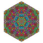 Colorful hexagonal ornament — Stock Vector