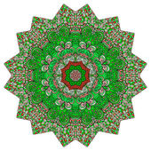 Polygonale bunten ornament — Stockvektor