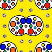 Colorful rectangular seamless ornament — Stock vektor