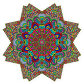 Polygonální barevný ornament — Stock vektor