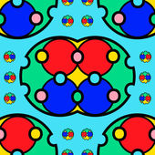 Colorful rectangular seamless ornament — Stock Vector