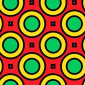 Renkli dikdörtgen sorunsuz süsleme — Stok Vektör