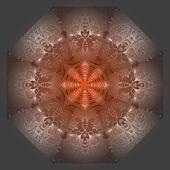 Octagonal white ornament — Stock Vector