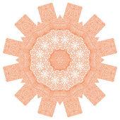 Flowerlike orange ornament — Stock Vector