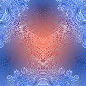 Rectangular colorful ornament — Stock Vector