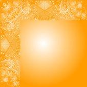 带有装饰的橙色卡 — 图库矢量图片