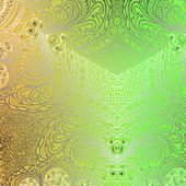 Ornement vert rectangulaire — Vecteur