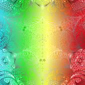 Quadratic colorful pattern — Stock Vector