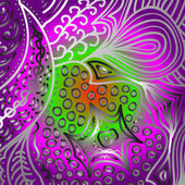 Quadrate bright varicolored pattern — Stock vektor