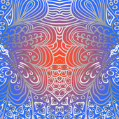 Quadrate garish ornament — Stock Vector