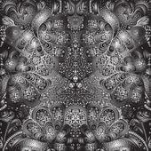Quadrate black and white ornament — Vector de stock