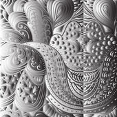 Kvadrátové černé a bílé ornament — Stock vektor
