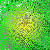 Quadrate green ornament — Stockvector