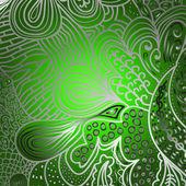 Ornamento cuadrado verde — Vector de stock