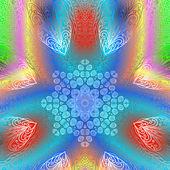Quadrate bright varicolored pattern — Stockvector
