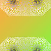 Quadrate colorful card — Vector de stock