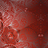 Quadrate red ornament — Stock Vector