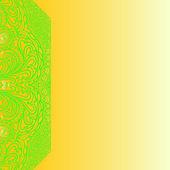 Scheda quadrata con ornamenti — Vettoriale Stock