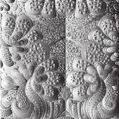квадратной черно-белый орнамент — Cтоковый вектор