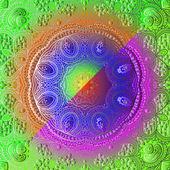 Rectangular colorful ornament — Stock vektor