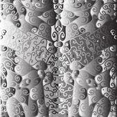 Quadrate ornement noir et blanc — Vecteur