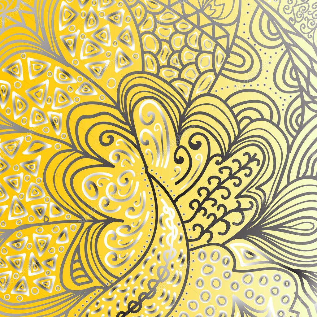 方形炫彩花纹设计– 图库插图