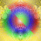 Ornamento colorido retangular — Vetor de Stock