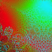 Ornement coloré rectangulaire — Vecteur