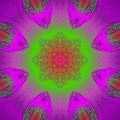 Quadrate bright varicolored pattern — Stock Vector