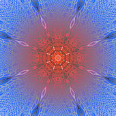 Quadrate gradient ornament — Stock Vector
