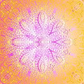 Quadrate colorful ornament — Stock Vector