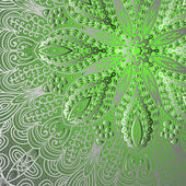 Quadrate green ornament — Stock Vector