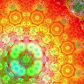Rectangular colorful pattern — Stock Vector