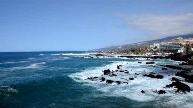 プエルト デ ラ クルーズ テネリフェ島 — ストックビデオ