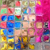 Colorful glass blocks — Foto Stock