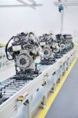 Manufacturing of the new engines — Stock Photo