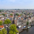 Amsterdam, Netherlands, on July 10, 2014. A view of the city from a survey platform of Westerkerk — Stock Photo #51915545