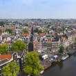 Amsterdam, Netherlands, on July 10, 2014. A view of the city from a survey platform of Westerkerk — Stock Photo #51915625