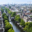 Amsterdam, Netherlands, on July 10, 2014. A view of the city from a survey platform of Westerkerk — Stock Photo #51916283