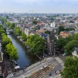 Amsterdam, Netherlands, on July 10, 2014. A view of the city from a survey platform of Westerkerk — Stock Photo #51916343