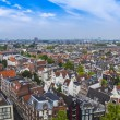 Amsterdam, Netherlands, on July 10, 2014. A view of the city from a survey platform of Westerkerk — Stock Photo #51917773