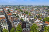 Amsterdam, Netherlands, on July 10, 2014. A view of the city from a survey platform of Westerkerk — Stock Photo