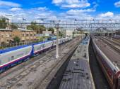 Moscow, Russia, on August 26, 2014, Tracks near the Kazan station — Stock Photo